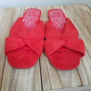 DV Addie Microsuede Knotted Slide Sandals | 9.5